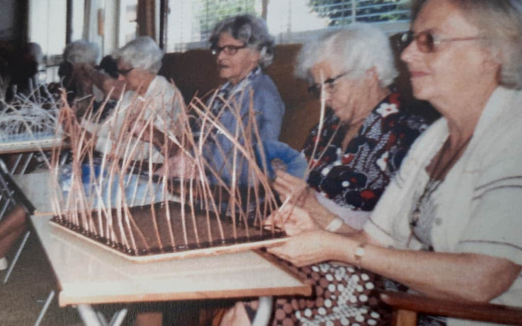 Basket-weaving was a popular activity for residents in the 1970s